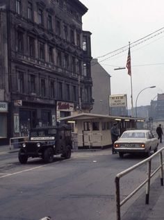 East Berlin 1971 Military Police Check Point Charlie