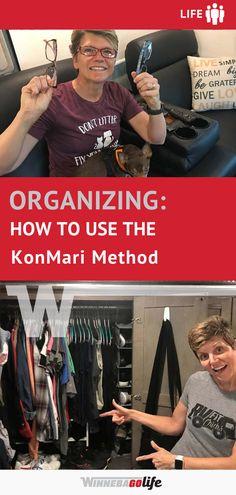 Organizing Your RV with the KonMari Method Declutter, Organize, Road Trip Adventure, Konmari Method, Rv Parks, Rv Travel, Rv Life, Rv Living, Great Stories