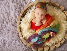 Rainbow Wrap Newborn Baby Photo Props photography