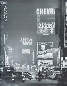 Time Square New York City 1940's.