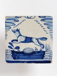 "1610-1640 Dutch Tile at the Victoria and Albert Museum, London - From the curators' comments: ""Tilework was a typical feature of the Dutch home beginning in the 17th century. Painted tiles were used around fireplaces, on wainscots, along corridors, and most particularly around skirtings. The continuous horizon formed by a row of tiles of these animal designs makes them especially appropriate for this latter use."""