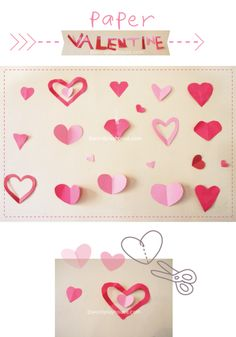 Share the awe and wonder of creating folded paper hearts with your own children. Together. Like the very first ones you made as a child. Make simple valentines with your children this year. | wordplayhouse® |