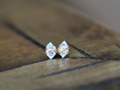 Herkimer Diamond Studs   Petite Quartz Gemstone Post Earrings