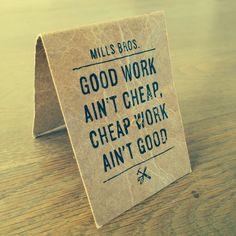 Good  cheap work