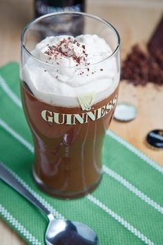 Guinness chocolate pudding.  Though not a fan of Guinness proper, I'm game to try this.