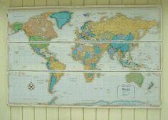 Baby Boy Nursery - I like the map theme
