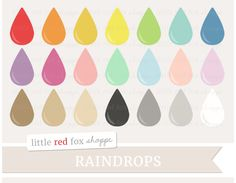 RAINDROPS – This set includes freebies! :D Digital clip art is perfect for scrapbooking, sticker printing, card making, invitations, blog and web design, business cards, promotional banners