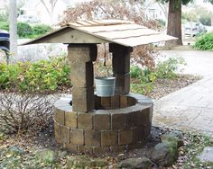 This adorable wishing well is provided as a kit from Pacific Interlock Pavingstone. Call for more information - 831-637-9136 or 4408-379-1436
