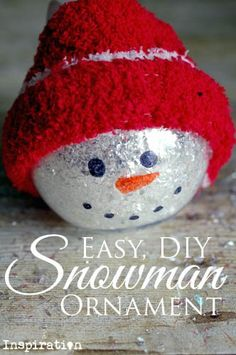Easy, DIY Snowman Ornament - This is an easy and DIY snowman ornament that is cheap to make for yourself, friends, or family! | www.beyondtheinspiration.com