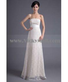strapless ivory wedding dresses