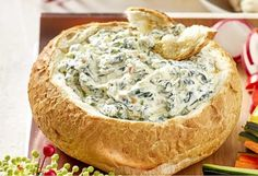 Spinach Cob Dip Sour Cream Recipe Easy Entertaining