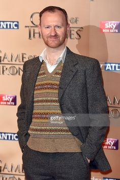 Mark Gatiss arrives for the world premiere of Game of Thrones Season 5 at Tower of London on...