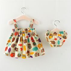BibiCola new toddler baby girls clothing sets small infant girls clothes set casual summer dress+underwear set _ - AliExpress Mobile Version - Kids Dress Wear, Dresses Kids Girl, Little Girl Outfits, Kids Outfits, Girls Frock Design, Baby Dress Design, Baby Girl Dress Patterns, Baby Frocks Designs, Kids Frocks Design