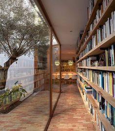 Home Library Design, Dream Home Design, My Dream Home, House Design, Modern Library, Patio Interior, Home Interior Design, Interior Architecture, Modern Interior