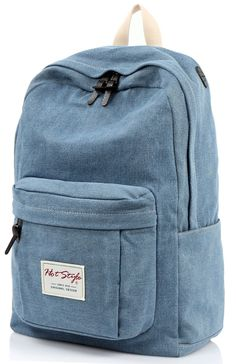 Amazon.com: [HotStyle Basic Classic] 599s Vintage Denim School Bookbag Laptop Backpack, Blue: Clothing