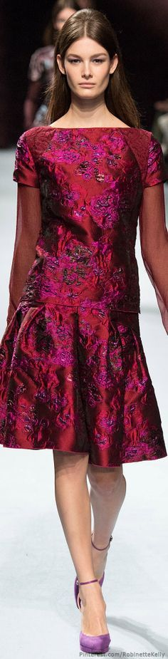 Beautiful Burgundy Brocade Dress.