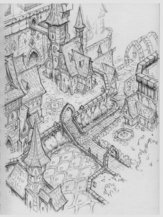 Workshops concepts created for Everquest Next architectural styles - made as freelance artist for DayBreak Game Company. The purpose was to help the community of players building voxel assets in LandmarkGame for the game EQN. (Style guide was provided by Isometric Map, Isometric Drawing, Architectural Styles, Fantasy City Map, Art Et Architecture, Fantasy Concept Art, Dungeons And Dragons Homebrew, Map Design, Environmental Art