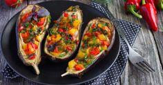 Alimentez vous sainement! Découvrez notre recette à base d'aubergines brûle-graisses farcies aux légumes grillés