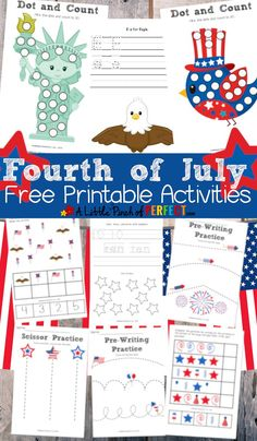 Fourth of july free printable activity pack for kids. Fourth Of July Crafts For Kids, Happy Fourth Of July, July 4th, 4th Of July Games, Free Preschool, Preschool Activities, Preschool Kindergarten, Preschool Centers, Preschool Printables