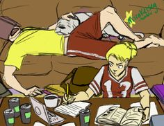 Wally and Artemis no this is too perfect whoever drew this had a perfect handle on them just yes.