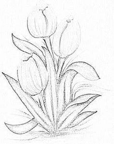 Resultado de imagen para pintura em tecido tulipas vermelhas