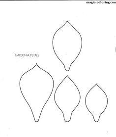 MAGIC-COLORING | Gardenia flower template