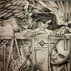 Prison Drawings, Badass Drawings, Chicano Drawings, Tattoo Drawings, Art Drawings, Chicano Style Tattoo, Chicano Love, Chicano Tattoos, Arte Cholo