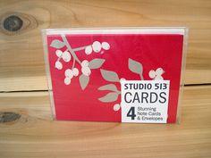 Mistletoe Holiday Note Card by Studio 513 $6.00