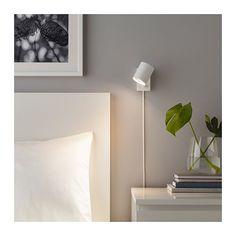 NYMÅNE Wall / reading lamp, fixed installation - white - IKEA candeeiro cama 20 € tem em preto Ikea Wall Lights, Ikea Wall Lamp, Bedside Wall Lights, Bedside Lighting, Bed Lights, Bedroom Wall Lights, Hanging Lamps, Ikea Lighting, Black Wall Lights