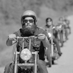 beautiful vintage biker photo - huge full thick bushy beard and mustache beards bearded man men bikers motorcycle motorcycles retro #lovethis #beardsonwheels #beardsforever