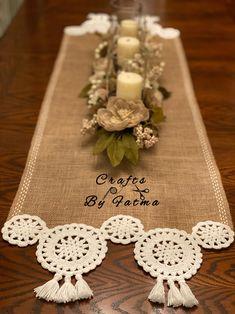 Crochet Motif, Crochet Doilies, Crochet Flowers, Crochet Patterns, Crochet Table Runner, Crochet Tablecloth, Burlap Crafts, Diy And Crafts, Small Crochet Gifts