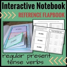 Spanish Interactive Notebook Verbs Flapbook (Regular Prese