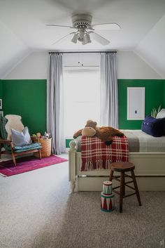 """After collecting art for Xander's room, my next step was to decide on a paint color. I gave Xander a few options using things he would appreciate and understand. """"Do you want red like Spiderman? Green like Hulk? Blue like Captain America?""""  1 