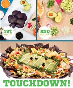 Score a touchdown next weekend with this fun twist on a classic football party appetizer via @HassAvocados/  #superbowl