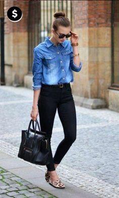Look Dia da Consumidora: Camisa Jeans + Slipper
