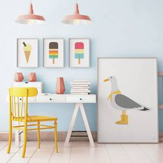 A wide range of wall art and poster prints for kids and adults, great for children's playroom, baby's nursery, boys and girls bedrooms, or any fun contemporary living space.