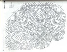 I really want to crochet a large throw / blanket with this doily pattern, it has enough rounds that it would come out decently big with a large hook and adequate yarn Free Crochet Doily Patterns, Crochet Doily Rug, Crochet Doily Diagram, Crochet Dollies, Crochet Tablecloth, Tatting Patterns, Crochet Round, Crochet Chart, Crochet Home