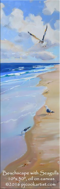 beachscape 10x30 oil on canvas
