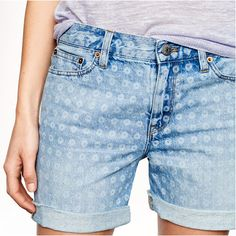 J.Crew Denim Short in Laser Dot