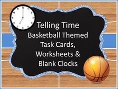 All your little basketball fans will enjoy these basketball themed activities that will help them practice telling time to the hour, half-hour and minute!