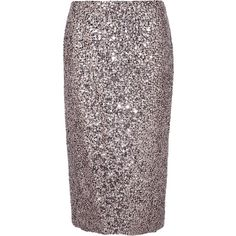 TOM FORD Sequined silk skirt (343.200 RUB) ❤ liked on Polyvore featuring skirts, silver, high-waisted skirts, high waisted knee length skirt, high waisted sequin skirt, high waist skirt and tom ford skirt
