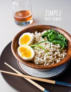 Simple Miso Ramen Noodles are just as easy but so much better than the kind from the package