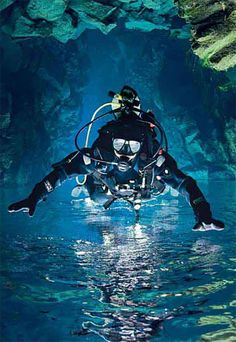 Scubadiving upside down