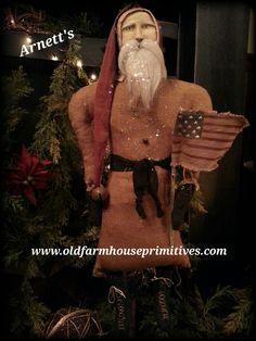 #KC17-0 Arnett's Primitive Hanging Santa NEW 2016 (Made In USA)