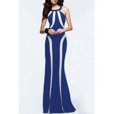 trendsgal.com - Trendsgal Fashionable Sleeveless Scoop Neck Color Block Dress - AdoreWe.com