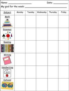 Montessori Elementary 6-9 Work Plans - Editable