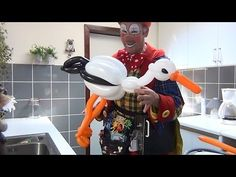 How to make a balloon stork - YouTube