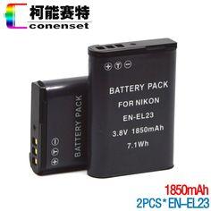 $19.99 (Buy here: https://alitems.com/g/1e8d114494ebda23ff8b16525dc3e8/?i=5&ulp=https%3A%2F%2Fwww.aliexpress.com%2Fitem%2FConenset-2PCS-Camera-Rechargeable-Li-ion-Battery-For-Nikon-EN-EL23-enel23-Coolpix-P600-S810c-Camera%2F32591593679.html ) Conenset  2PCS Camera Rechargeable Li-ion Battery For Nikon EN-EL23 enel23 Coolpix P600 S810c Camera for just $19.99
