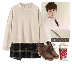 """""""A date with Jin at Starbucks (BTS)"""" by evil-maknae ❤ liked on Polyvore featuring Toast, Michael Kors and Nordstrom"""