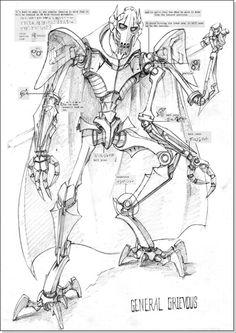 Star Wars General Grievous Sketch.